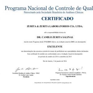 Certificado 2015 PNCQ