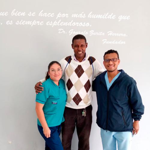 Agustín Delgado nos visitó en la sucursal de Ibarra